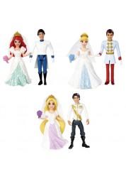 Disney Princess Набор Свадебная пара Прицесса и Принц (Ариель, Золушка, Рапунцель)