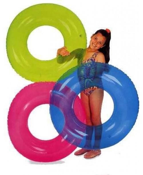 Надувной круг Transparent Tubes 76см Intex 59260