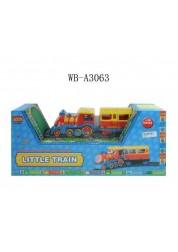 Детская железная дорога Маленький паровозик со светом и звуком Junfa Toys 8588A
