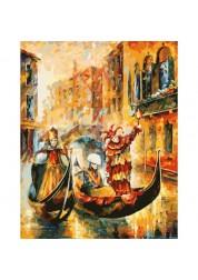 Раскраски по номерам Венецианская гондола 40х50 см