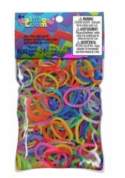 Резиночки Rainbow Loom для плетения браслетов Гелевые Микс