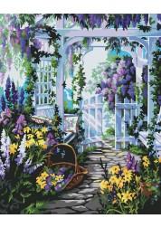 Раскраски по номерам Прекрасный сад 40х50 см