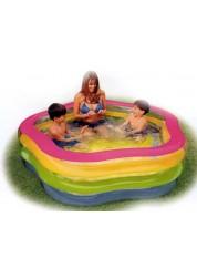 Надувной бассейн Летние цвета 185х180х53см Intex 56495