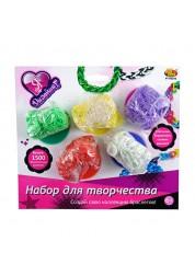 Набор для плетения браслетов 5 цветов 1500 резиночек ABtoys