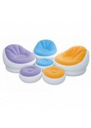 Кресло надувное с подставкой для ног 3 цвета Intex 68572