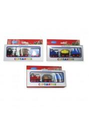 Поезд инерционный, 3 вагона, в ассортименте amico 31525