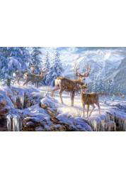 Пазл Castorland Зимние горы, 1000 деталей