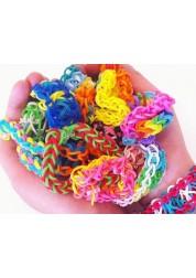 Резиночки Rainbow Loom для плетения браслетов ассорти Tie-Dye (24 клипсы-600 резиночек)