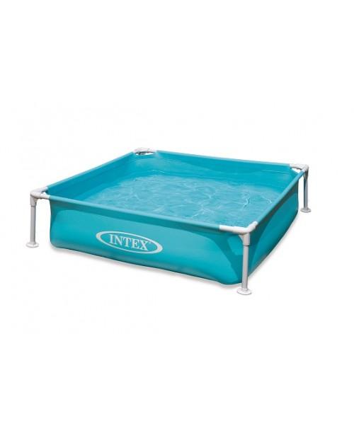 Бассейн надувной голубой 121х121х31см Intex 57172