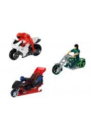 Мотоцикл с гонщиком 1:64 Hot Wheels