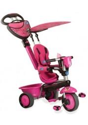 Велосипед Smart Trike Zoo Butterfly 3х колесный (тёмно-розовый) с ручкой