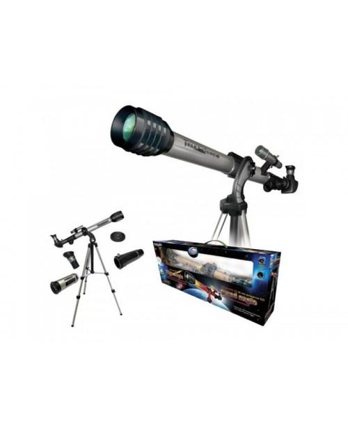 Детский переносной телескоп с широкоугольным окуляром на алюминиевом штативе