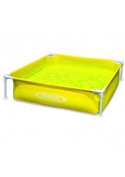 Бассейн надувной желтый 121х121х31см Intex 57173