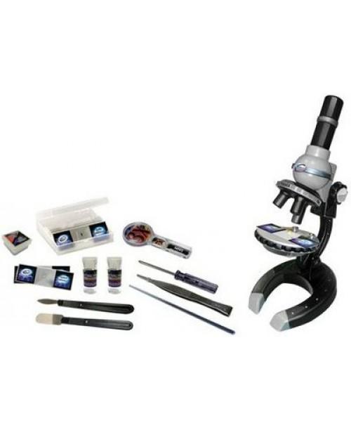 Микроскоп металлический с увеличением 250Х500Х1000 58 предметов Eastcolight