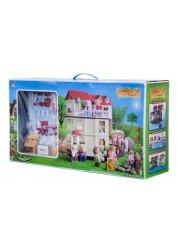 Загородный домик для зверят с фигурками и мебелью Happy Family 012-01 Junfa Toys