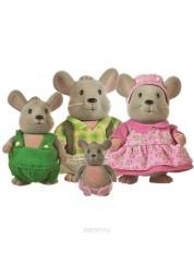 Li'l Woodzeez. Семейка Мышей (4 шт) в наборе с книжкой