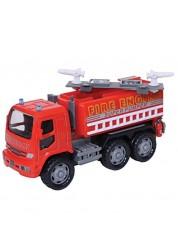 Грузовик пожаротушения инерционный, металлическая кабина (1:50)