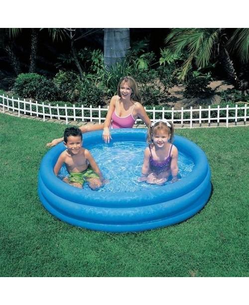 Надувной бассейн Crystal Blue Pool 114х25см Intex 59416