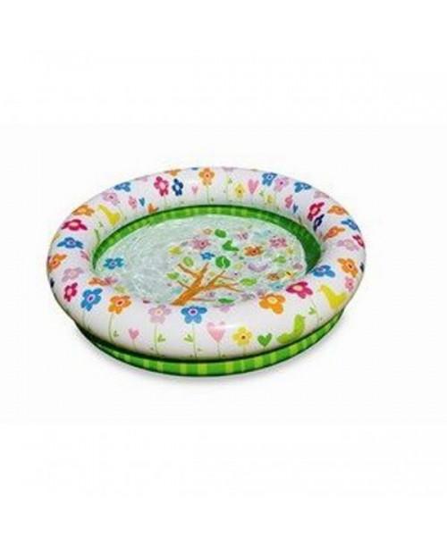 Детский надувной бассейн с цветочками 112х25см Intex 57427