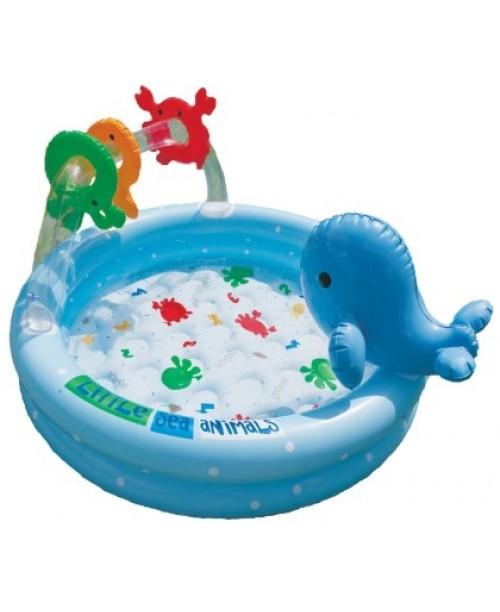 Надувной бассейн Дельфинчик из 3-х колец 90х53см Intex 57400