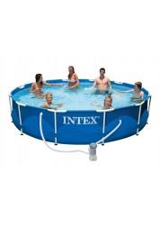 Каркасный бассейн с металлическим ободком 366х76см Intex 28212