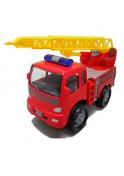 Грузовик пожарный с лестницей инерционный, металлическая кабина, 1:60