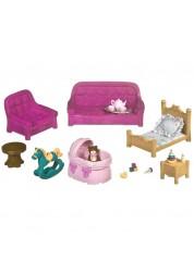 Li'l Woodzeez. Игровой набор для гостиной и детской с аксессуарами, 23 предмета, пластмасса