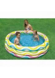 Надувной бассейн Color Wave Pool 114х25см Intex 59419