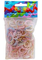Резиночки Rainbow Loom для плетения браслетов Блестящие Микс