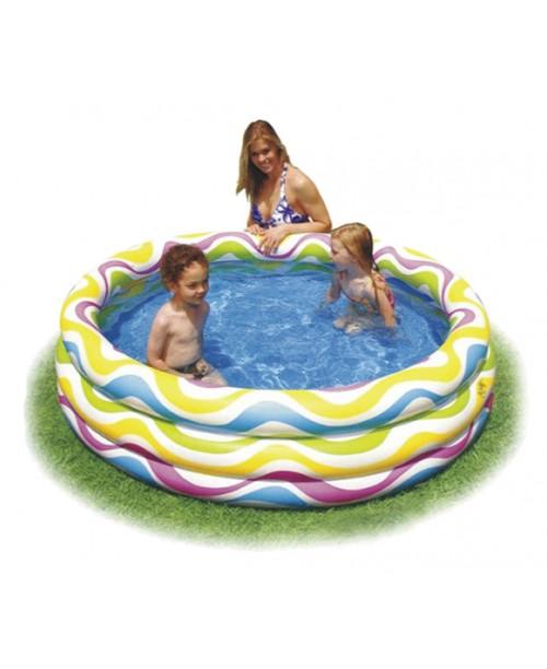 Бассейн надувной Color Wave Pool 168х41см Intex 58449