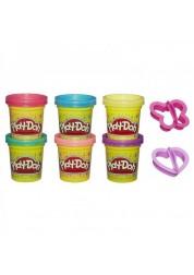 Play-Doh Набор пластилина из 6 баночек Блестящая коллекция Hasbro A5417