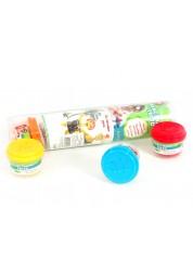 Цветной пластилин-тесто 6 баночек в тубе Paulinda