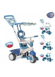 Детский велосипед Smart Trike Safari Touch Steering голубой