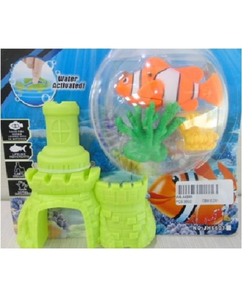 Набор Роборыбка с 2-мя кораллами и замком из пластика