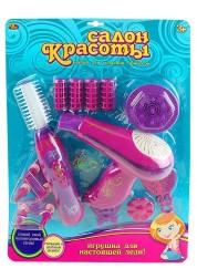 Салон красоты PT-00189 Игрушка для завивки волос и фен с аксессуарами