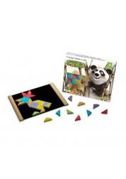 Мозаика из бамбука 36 элементов / 6 цветов / буклет