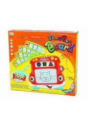 Доска магнитная для рисования в наборе с обучающими карточками