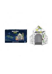 Ракета - раскраска 1toy Angry Birds спейс, домик в сборке 78х78х125 см, картон