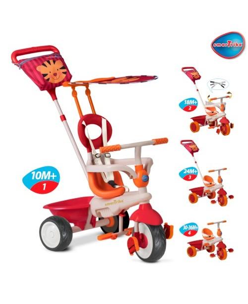 Детский велосипед Smart Trike Safari Touch Steering красно-оранжевый
